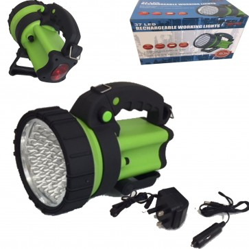 37 LED Rechargeable Spotlight Hand lamp Work Light Torch 1 Million Candle Power