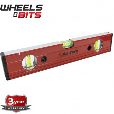 "Spirit Level Ribbed 12"" Inch (30cm) Aluminium Ruler Builders Milled Face P4455"