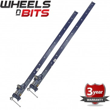 2x Clamp T Bar 4 Foot (1200mm) Heavy Duty Cast Iron Wood Or Metal Workshop
