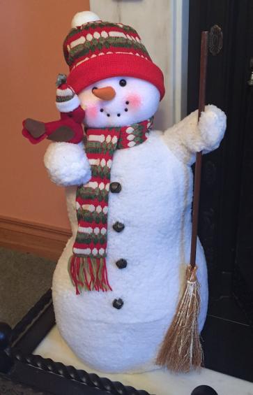 NEW XL Large 70cm ICE Frozen Snowman Christmas Figure Xmas Decoration Fire Side