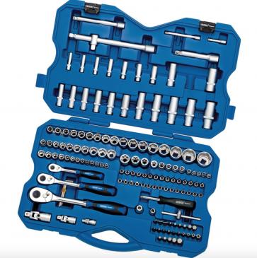 """NEW Draper Professional 149pc Metric Sockets Bits Set 1/4"""" 3/8"""" & 1/2"""" Ratchets"""