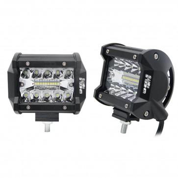 COMBO Beam 2PC 4 inch LED Spot Flood Work Lights Bars Off Road Driving Fog Lamps