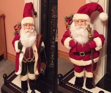 NEW XL Large 70cm Santa Claus Father Christmas Figure Xmas Decoration Fire Side