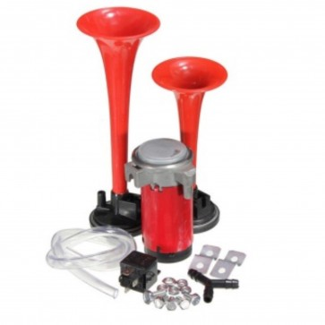 12V Car Van Air Horn Twin Dual Tone Very Loud With Relay and fits Kia