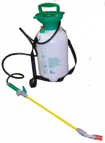 Weed Killer 5L Litre Alloy Wheel Cleaner Pressure Sprayer Knap Sack 1.3M Hose