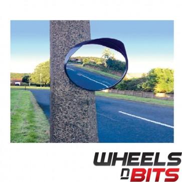 "NEW Convex Mirror 12"" 30cm Blind Spot Wide Angle Traffic Driveway Workshop Black"