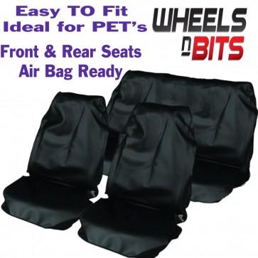 Mitsubishi L200 Shogun  Seat Covers Waterproof Nylon Full Set Protectors Black