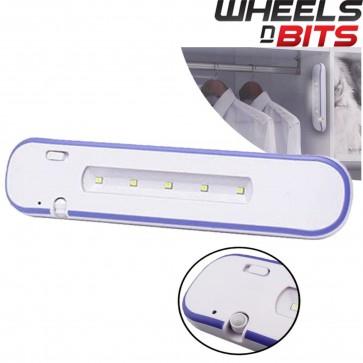 PIR Motion Sensor 5 LED Night Light Closet Drawer Wardrobe Cupboard Wall Lamp UK
