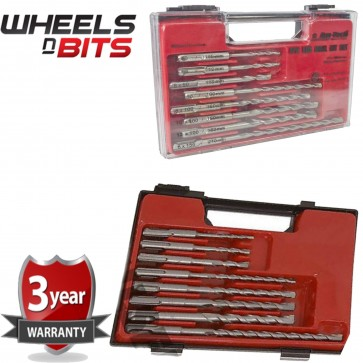 8 Pc Sds Masonry Drill Bit Set Storage Case Professional Fits Sds Plus F0925