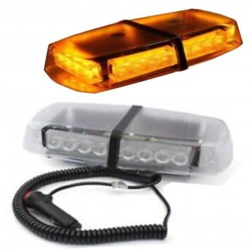 12v AMBER LED EMERGENCY RECOVERY STROBE FLASHING LIGHT BAR MAGNETIC ROOF BEACON
