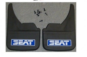 Seat Logo Universal Car Mudflaps Front Rear Leon Malaga Marbella Mud Flap Blue