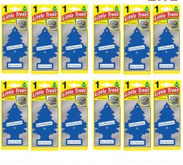 12 x Magic Tree Little Tree New Car Scent Fragrance Car Van Air Freshener Packs