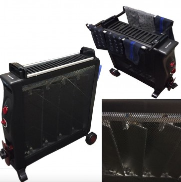 NEW Black Mica Heater The Same As 11 Fin Oil Radiator Uses upto 30% Less Power