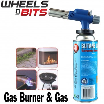 Hand held Butane Gas Burner Soldering torch Bunsen Weed Burner Stainless Steel