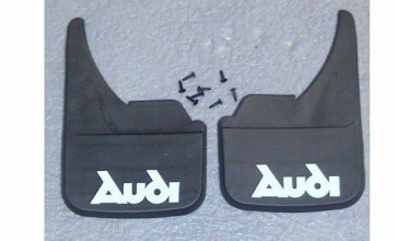 Universal Car Mudflaps Front Rear Audi Name 90 A6 A7 R8 RS2 RSQ3 Mud Flap Guard