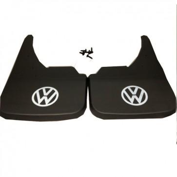 VW Volkswagen White Logo Universal Car Mudflaps Front Rear Beetle Bora Guard