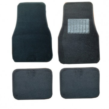 Universal Cloth Carpet & Heel Pad Car Mats Set fits VW Golf MK3 MK4 MK5 MK6  MK7
