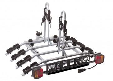 Tow bar Mounted Tilting 4 Bike Rack Cycle Carrier Steel 50mm Hitch Platform