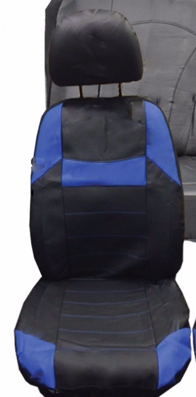 CITROEN C8 ALL YEARS ALPHA STYLE FRONT SEAT COVERS IN BLACK /& GREY 1+1
