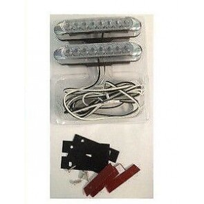 Wheels N Bits Drl 8 Led Daytime Running Lights Universal Xenon White To Fit Citreon C1 C2 C3