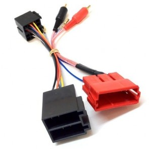 PC9-404 fits Audi A3 96-06 Amp Bypass Half Amplified RCA to ISO Lead Adaptor