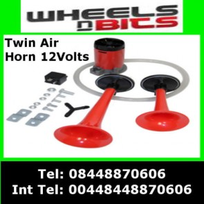 Wheels N Bits 12V Car Van Air Horn Twin Dual Tone Very Loud With Relay & Kit For Renault Volvo