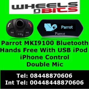 Parrot MKi9100 Bluetooth handfree Kit with music streaming double mic & USB AUX