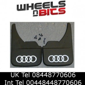 Audi Logo Universal Car Mudflaps Front Rear 80 100 A1 A2 A3 A4 A5 Mud Flap hoops