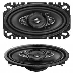 "Pioneer TS-A4670F 6"" x 4"" 4-Way Custom Fit Car Audio Speakers 210W VW Golf Skoda"