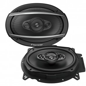 "Pioneer TS-A6960F 6""x9"" inch 4 way 450Watts Each Car speakers Rear Shelf 90RMS"