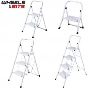 J Living folding Foldable 1 2 3 4 Step Steel Ladder Anti Slip Tread Stepladder