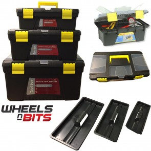 New WHEELS N Bits 3 Tool Box Boxes 30CM 35CM & 40CM Storage Case DIY Chest Bag