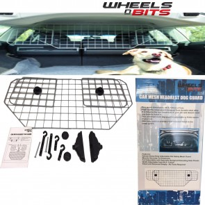 NEW WNB Car Dog Pet Guard Barrier Safety Mesh Headrest Protector UNIVERSAL FIT
