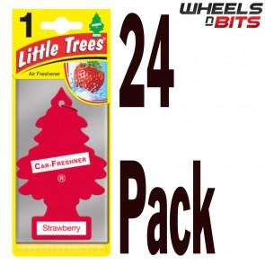 24x Strawberry Scent Magic Little Trees Car Home Air Freshener Freshner