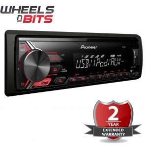 NEW Pioneer MVH-190ui car stereo with RDS tuner, USB and Aux-in iPod an iPhone