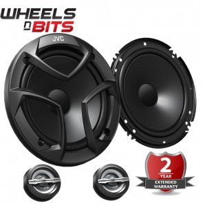 """JVC CS JS600 16CM 6.5"""" 300 Watts 2 Way Component Set Pair Car Door Speakers"""