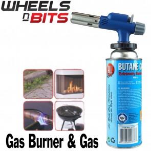 Gas Burner Universal Stainless Steel 227g Butane Gas Bunsen Torch Soldering +Gas