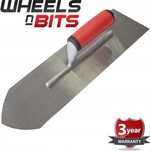 Wheels N Bits Cement Finishing Trowel Polished Steel Blade Soft Grip Handle Plastering Trowels