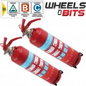 2x ABC DRY Powder 1KG Fire Extinguisher Mounting Bracket CAR Van Taxi Mini Bus
