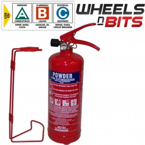 ABC Dry Powder 2 Kg Fire Extinguisher With Steel Wall Bracket CAR VAN Truck HGV