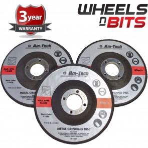 Wheels N Bits New 3 Pack Of 115mm Metal Steel Grinding Disc Angel Grinder Disc's High Quality