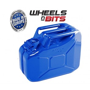 NEW HIGH QUALITY METAL POWER COATED INSIDE AN OUT Blue JERRY CAN 10L LITRE CAN