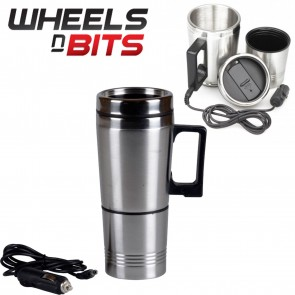 500ml 12V Vehicle Travel Cigarette Lighter Stainless Steel Water Heated Cup Mug