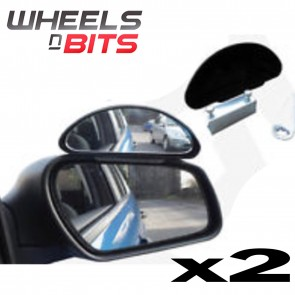 Pair 2X Frog Eyed Convex Wide Angle View Car Van Towing Blind Spot Mirrors