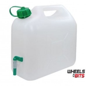 Brand New Wheels N Bits 15L 15 Litre Clear Plastic Jerry Can Jerrycan with Tap