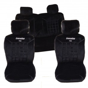 Wheels N Bits New Thick Protective Car Seat Covers Protectors Universal Fit Black Full Set F&R