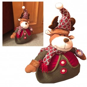 New X-Mas Reindeer Christmas Decoration Dog Stop Stopper 1.1KG Weight