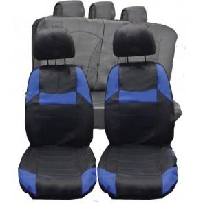 VW Golf MK1 MK2 MK3 Universal Black & Blue  PVC Leather Look Car Seat Covers Set