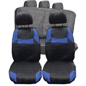 Citroen DS3 DS4 DS5  UNIVERSAL BLACK & Blue PVC Leather Look Car Seat Covers Set