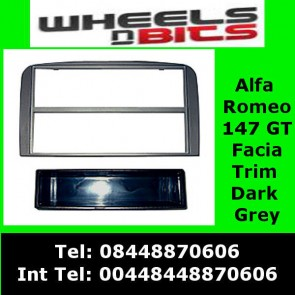 FP-09-05 Alfa Romeo 147 05> GT 2007> Dark Grey FACIA ADAPTOR PANEL SURROUND TRIM